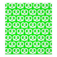 Neon Green Pretzel Illustrations Pattern Shower Curtain 66  X 72  (large)  by creativemom