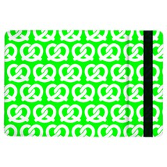 Neon Green Pretzel Illustrations Pattern Ipad Air 2 Flip by creativemom