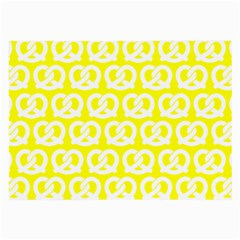 Yellow Pretzel Illustrations Pattern Large Glasses Cloth by creativemom