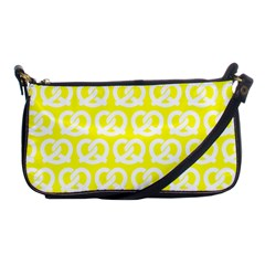 Yellow Pretzel Illustrations Pattern Shoulder Clutch Bags by creativemom