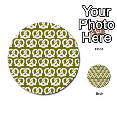 Olive Pretzel Illustrations Pattern Multi Purpose Cards (round)  by creativemom