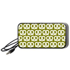 Olive Pretzel Illustrations Pattern Portable Speaker (black)  by creativemom