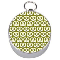Olive Pretzel Illustrations Pattern Silver Compasses by creativemom