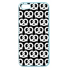 Black And White Pretzel Illustrations Pattern Apple Seamless Iphone 5 Case (color) by creativemom
