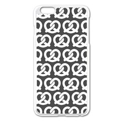 Gray Pretzel Illustrations Pattern Apple Iphone 6 Plus/6s Plus Enamel White Case by creativemom