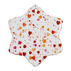 Heart 2014 0604 Snowflake Ornament (2 Side)
