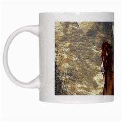 Beautiful Horses Running In A River White Mugs by FantasyWorld7