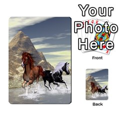 Beautiful Horses Running In A River Multi-purpose Cards (rectangle)  by FantasyWorld7