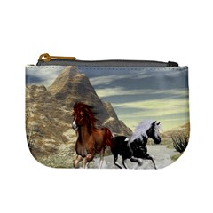Beautiful Horses Running In A River Mini Coin Purses by FantasyWorld7