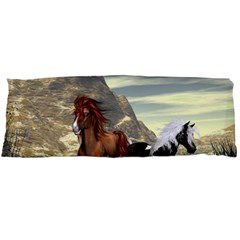 Beautiful Horses Running In A River Body Pillow Cases Dakimakura (two Sides)  by FantasyWorld7