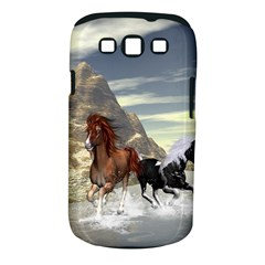 Beautiful Horses Running In A River Samsung Galaxy S Iii Classic Hardshell Case (pc+silicone) by FantasyWorld7