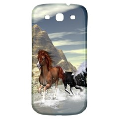 Beautiful Horses Running In A River Samsung Galaxy S3 S Iii Classic Hardshell Back Case by FantasyWorld7