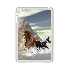 Beautiful Horses Running In A River Ipad Mini 2 Enamel Coated Cases by FantasyWorld7