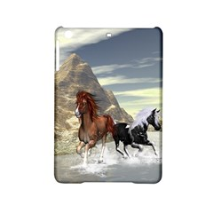 Beautiful Horses Running In A River Ipad Mini 2 Hardshell Cases by FantasyWorld7