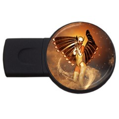 Beautiful Angel In The Sky Usb Flash Drive Round (2 Gb)  by FantasyWorld7