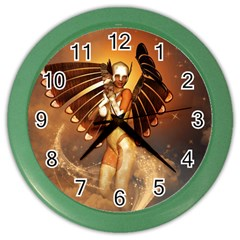 Beautiful Angel In The Sky Color Wall Clocks