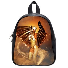 Beautiful Angel In The Sky School Bags (small)  by FantasyWorld7
