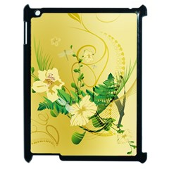 Wonderful Soft Yellow Flowers With Leaves Apple Ipad 2 Case (black) by FantasyWorld7