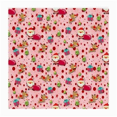 Red Christmas Pattern Medium Glasses Cloth by KirstenStar