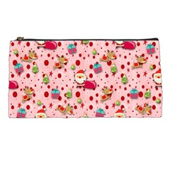 Red Christmas Pattern Pencil Cases
