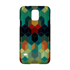 Colorful Modern Geometric Cubes Pattern Samsung Galaxy S5 Hardshell Case  by Dushan
