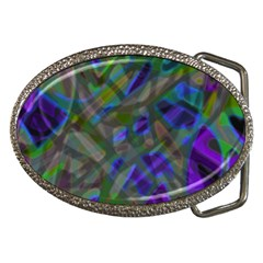 Colorful Abstract Stained Glass G301 Belt Buckles by MedusArt