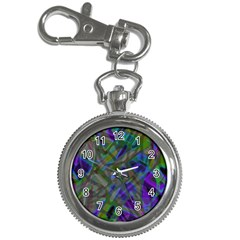 Colorful Abstract Stained Glass G301 Key Chain Watches by MedusArt