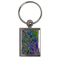 Colorful Abstract Stained Glass G301 Key Chains (rectangle)  by MedusArt