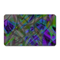 Colorful Abstract Stained Glass G301 Magnet (rectangular) by MedusArt