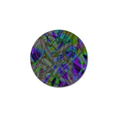 Colorful Abstract Stained Glass G301 Golf Ball Marker (10 Pack) by MedusArt