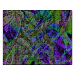 Colorful Abstract Stained Glass G301 Rectangular Jigsaw Puzzl by MedusArt