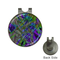Colorful Abstract Stained Glass G301 Hat Clips With Golf Markers by MedusArt