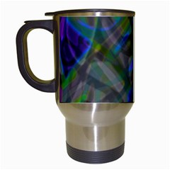 Colorful Abstract Stained Glass G301 Travel Mugs (white) by MedusArt