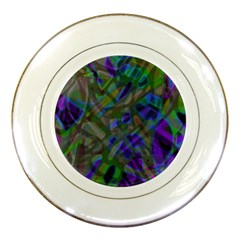 Colorful Abstract Stained Glass G301 Porcelain Plates by MedusArt