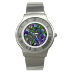 Colorful Abstract Stained Glass G301 Stainless Steel Watches Front