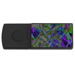 Colorful Abstract Stained Glass G301 Usb Flash Drive Rectangular (4 Gb)  by MedusArt