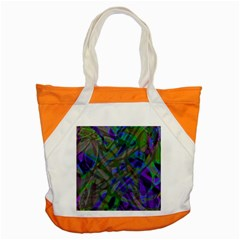 Colorful Abstract Stained Glass G301 Accent Tote Bag  by MedusArt