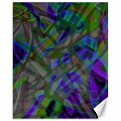 Colorful Abstract Stained Glass G301 Canvas 16  X 20   by MedusArt