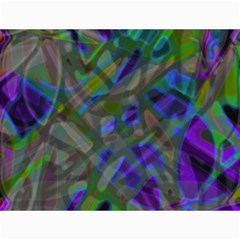 Colorful Abstract Stained Glass G301 Canvas 18  X 24   by MedusArt