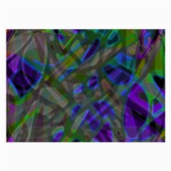 Colorful Abstract Stained Glass G301 Large Glasses Cloth (2-side) by MedusArt