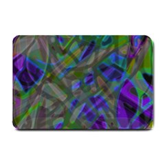Colorful Abstract Stained Glass G301 Small Doormat  by MedusArt