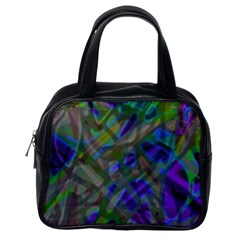 Colorful Abstract Stained Glass G301 Classic Handbags (one Side) by MedusArt
