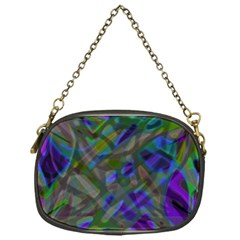 Colorful Abstract Stained Glass G301 Chain Purses (one Side)  by MedusArt