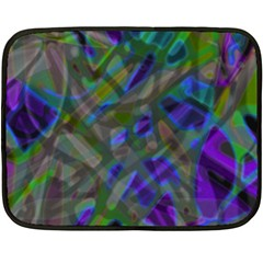 Colorful Abstract Stained Glass G301 Double Sided Fleece Blanket (mini)  by MedusArt