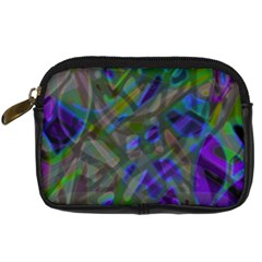 Colorful Abstract Stained Glass G301 Digital Camera Cases by MedusArt