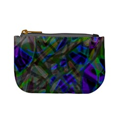 Colorful Abstract Stained Glass G301 Mini Coin Purses by MedusArt