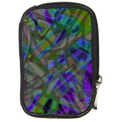Colorful Abstract Stained Glass G301 Compact Camera Cases by MedusArt