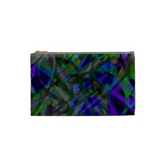 Colorful Abstract Stained Glass G301 Cosmetic Bag (small)  by MedusArt