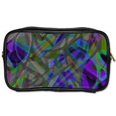 Colorful Abstract Stained Glass G301 Toiletries Bags 2 Side by MedusArt