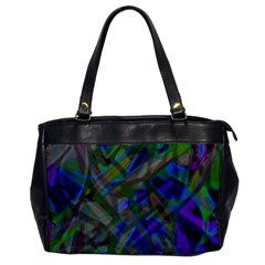 Colorful Abstract Stained Glass G301 Office Handbags by MedusArt